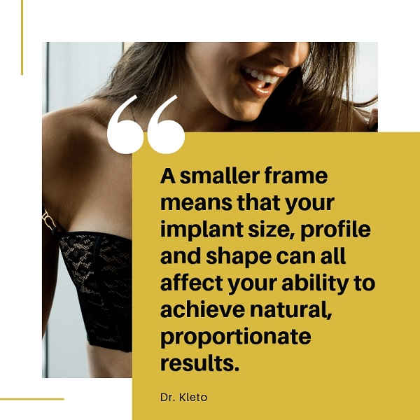 Infographic With Quote About Breast Implants for Petite Women